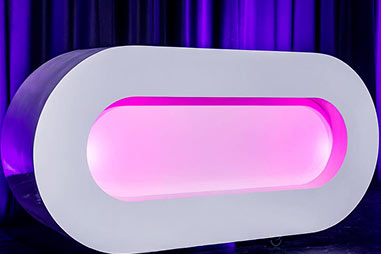 Oval LED Booth
